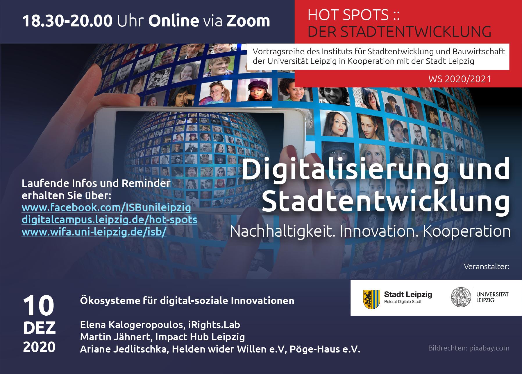 Flyer mit Infos zur 1. Veranstaltung HotSpots, Infos können alle dem Artikel entnommen werden