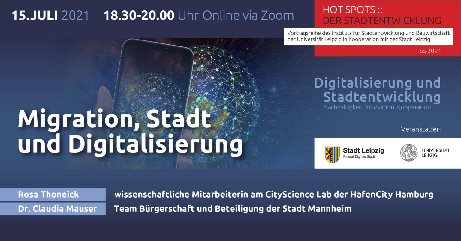 Flyer HOTSPOTS:: Der Stadtentwicklung Veranstaltungsreihe Sommersemester 2021, alle Infos im Artikel
